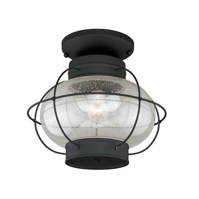 Sanibel 1-Light Flush Mount Finish: Textured Black