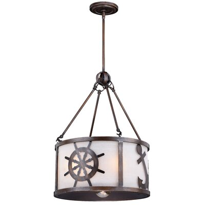 Hagley 1-Light Drum Pendant Size: 83.5 H x 17