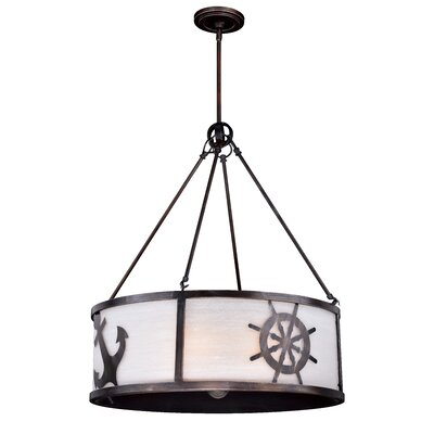 Hagley 1-Light Drum Pendant Size: 87 H x 25 W x 25 D