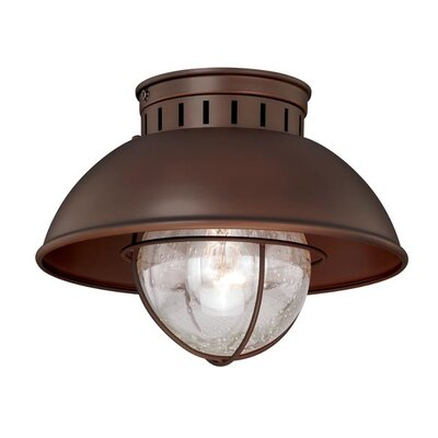 Archibald 1-Light Flush Mount Finish: Burnished Bronze