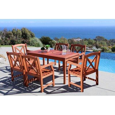 Monterry 7 Piece Wood Outdoor Dining Set