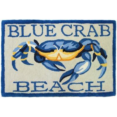 Providence Blue Crab Beach Area Rug Rug Size: 110 x 210
