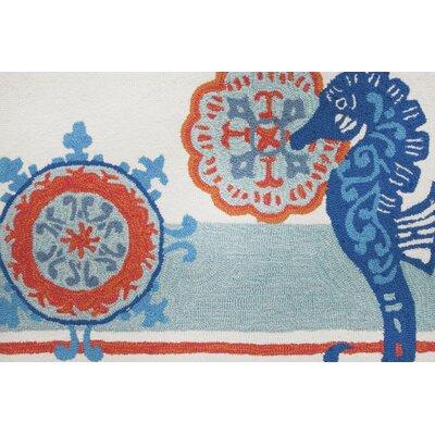 Dalvey Seahorse Medallion Novelty Rug Rug Size: 110 x 210