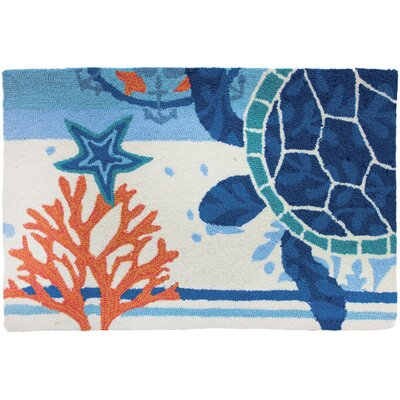 Dalvey Turtle Medallion Novelty Rug Rug Size: 110 x 210