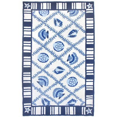 Orlando Navy Blues Rug Rug Size: 110 x 210