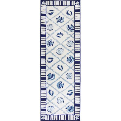 Orlando Navy Blues Rug Rug Size: 24 x 76