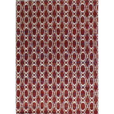 Portmarnock Hand-Woven Red Area Rug Rug Size: 76 x 96