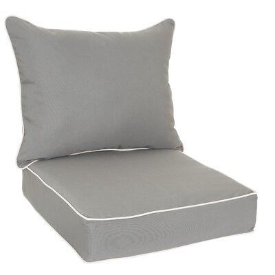 Sunbrella Dining Chair Cushion Fabric: Charcoal