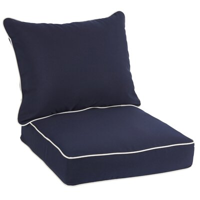 Sunbrella Dining Chair Cushion Fabric: Navy
