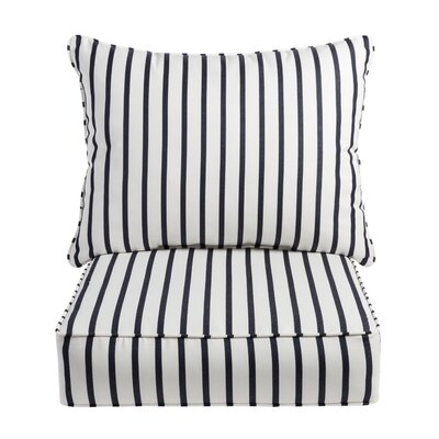 Stripe Sunbrella Dining Chair Cushion