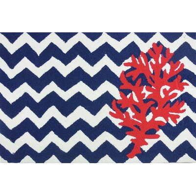 Orlando Chevron And Coral Area Rug