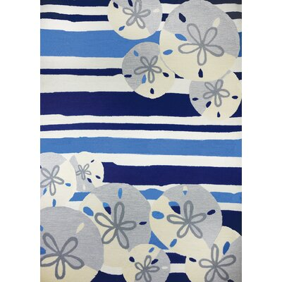 Dalvey Sand Dollar Beige/Blue Indoor/Outdoor Area Rug Rug Size: Rectangle 22 x 5