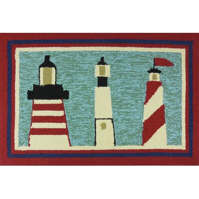 Dalvey Lighthouse Brigade Turquoise Indoor/Outdoor Area Rug