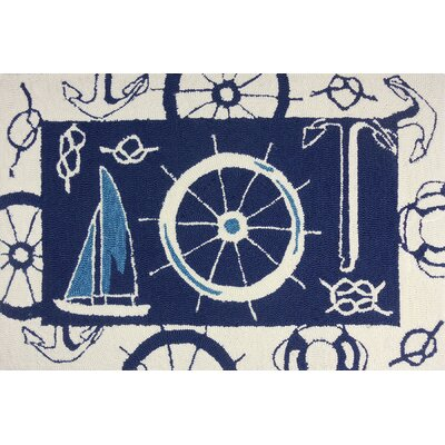 Brownsville Nautical Blue/Beige Indoor/Outdoor Area Rug