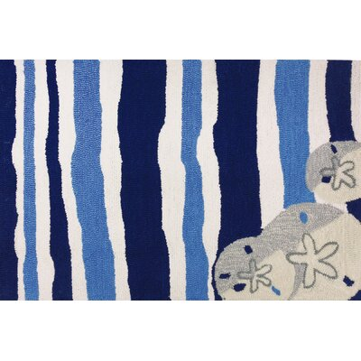 Brownsville Sand Dollar Beige/Blue Indoor/Outdoor Area Rug