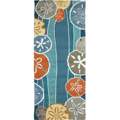 Brownsville Beachcomber Teal Indoor/Outdoor Area Rug Rug Size: Runner 22 x 5