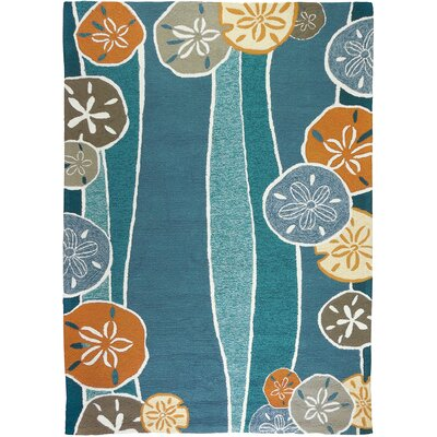 Brownsville Beachcomber Teal Indoor/Outdoor Area Rug Rug Size: 3 x 5
