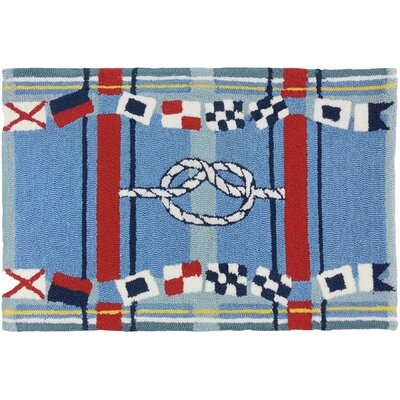 Brownsville Nautical Plaid Blue Indoor/Outdoor Area Rug Rug Size: 110 x 210