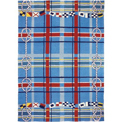 Brownsville Nautical Plaid Blue Indoor/Outdoor Area Rug Rug Size: 5 x 7