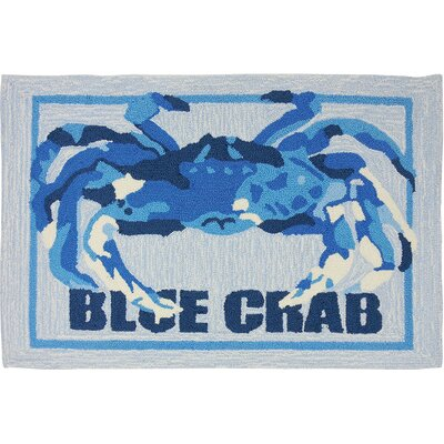 Orlando Crab Shack Light Gray/Blue Area Rug