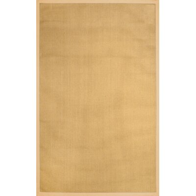 Yasmine Cotton Border Sand Area Rug Rug Size: Rectangle 6 x 9