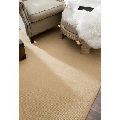 Yasmine Cotton Border Sand Area Rug Rug Size: 3 x 5