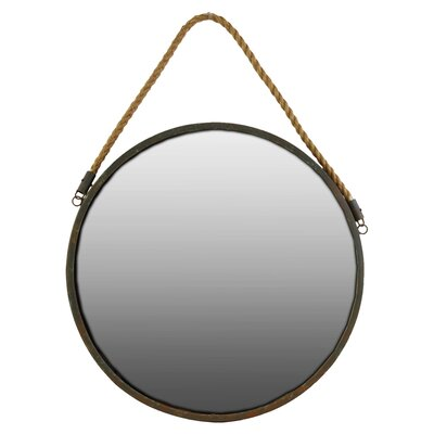 Breakwater Bay Round Wall Mirror with Rope