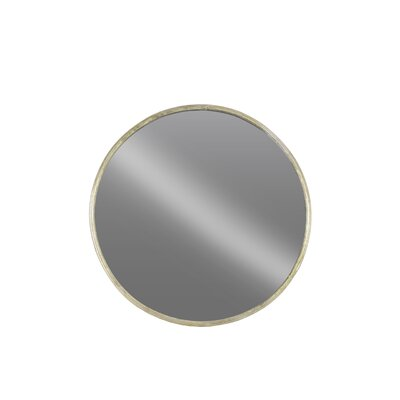Breakwater Bay Metal Round Wall Mirror