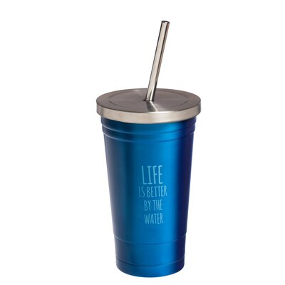 Marlow Life by the Water Stainless Steel 16 oz. Insulated Tumbler BRWT8115 34945829
