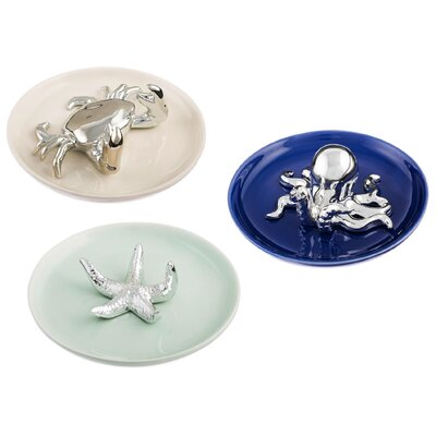 3 Piece Nautical Ring Holder Set