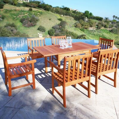 Monterry 7 Piece Eucalyptus Wood Dining Set
