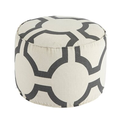 Coolidge Traditional Geometric Pouf Ottoman