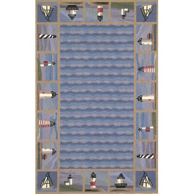 Porter Lighthouse Nautical Novelty Rug Rug Size: Oval 26 x 46
