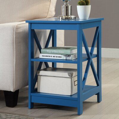 Stoneford End Table Color: Blue