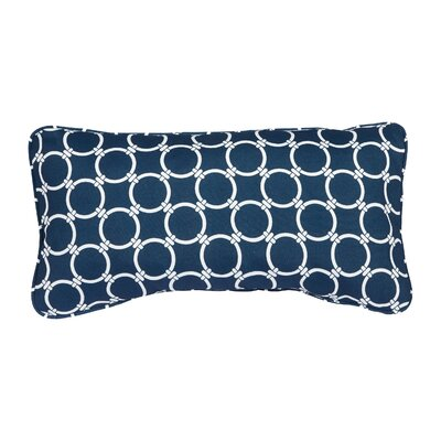 Kennebunkport Link Indoor/Outdoor Lumbar Pillow Color: Navy, Size: 12'' H x 24'' W