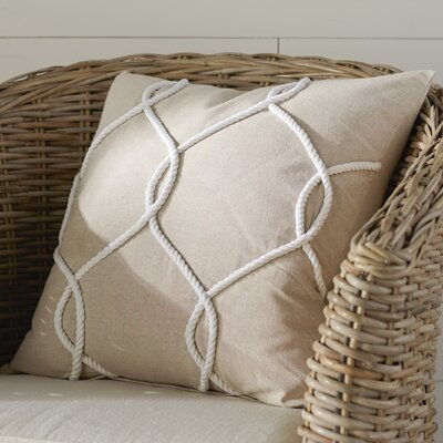 Fryeburg 100% Cotton Pillow Cover Color: Coral