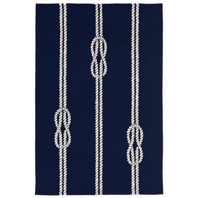 George Hand-Tufted Navy Blue Indoor/Outdoor Area Rug Rug Size: Rectangle 76 x 96