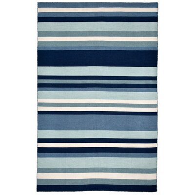 Ranier Hand-Woven Blue Indoor/Outdoor Area Rug Rug Size: 76 x 96