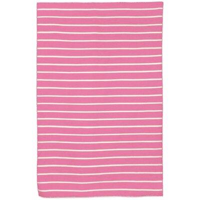 Torington Pinstripe Hand-Woven Pink Indoor/Outdoor Area Rug Rug Size: 8'3
