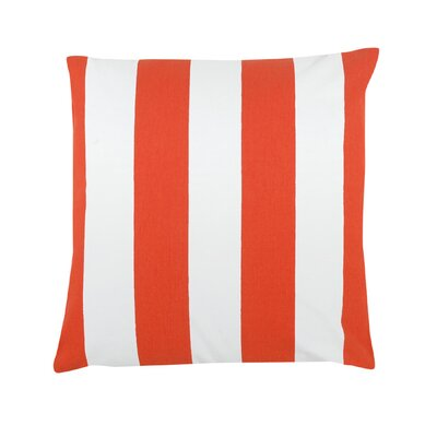 Thorne Striped 100% Cotton Throw Pillow Color: Orange