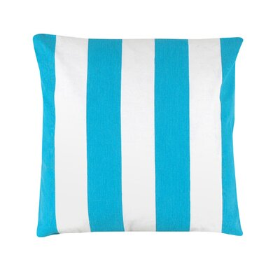 Thorne Striped 100% Cotton Throw Pillow Color: Baby Blue
