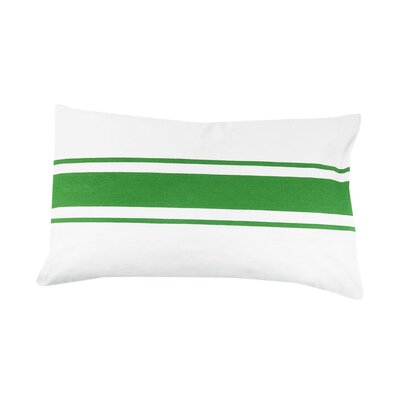Faraday Striped 100% Cotton Lumbar Pillow Color: Green