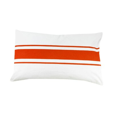 Faraday Striped 100% Cotton Lumbar Pillow Color: Orange