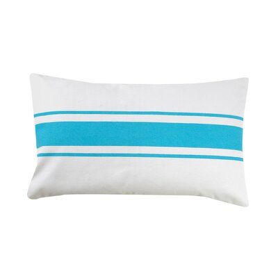 Faraday Striped 100% Cotton Lumbar Pillow Color: Baby Blue