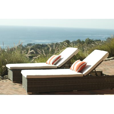 Greendale Chaise Lounge with Cushion Fabric: Oyster