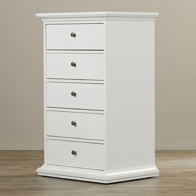Paloma 5 Drawer Lingerie Chest Color: White