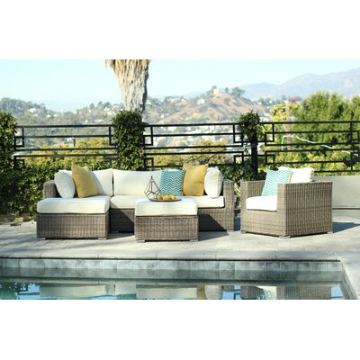 Greendale 4 Piece Deep Seating Group with Cushion Fabric: Oyster