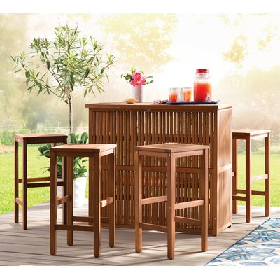 Thurston 5 Piece Outdoor Bar Set