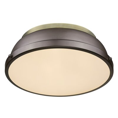 Bodalla 2-Light Metal Flush Mount