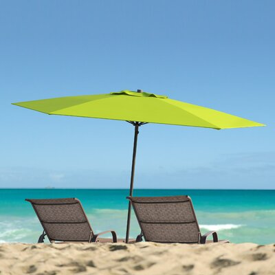 Smithmill 7.5 Deluxe Beach Umbrella Fabric: Lime Green